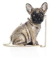 Judith Leiber Pierre French Bulldog Crystal Clutch