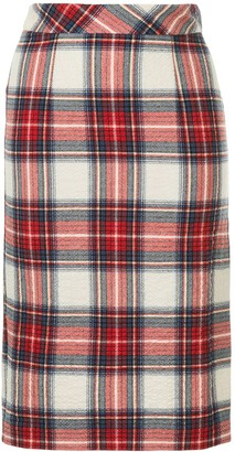 Boutique Moschino Plaid Pencil Skirt