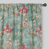 Cost Plus World Market Aqua Genevieve Cotton Concealed Tab Top Curtains, Set of 2