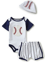 Starting Out Baby Boys Newborn-9 Months Baseball Bodysuit, Shorts, & Hat Set
