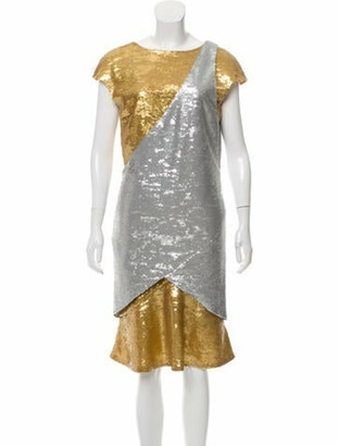 Chanel Sequined Cocktail DRess Gold