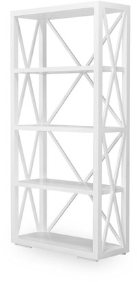 One World Sorrento Shelving Unit White