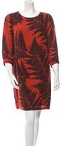 Stella McCartney Silk Leaf Print Dress