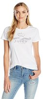 Juicy Couture Black Label Women's Logo Crown Jewel Ss Tee