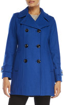 Anne Klein Double-Breasted Wool Coat