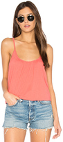 Chaser Cross Back Shirred Cami in Coral. - size L (also in M,S,XS)