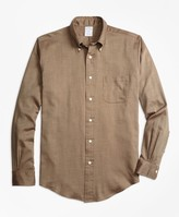 Brooks Brothers Regent Fit Cotton Cashmere Herringbone Sport Shirt