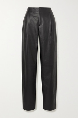 Vince Leather Tapered Pants - Black