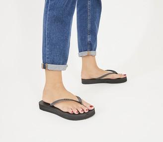 Havaianas Slim Platform Flip Flops Black