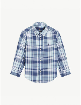 Ralph Lauren Logo cotton check shirt 2-14 years