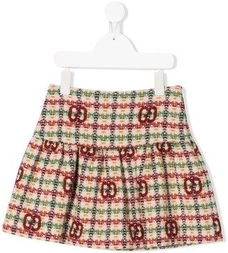 Gucci Kids GG tweed skirt