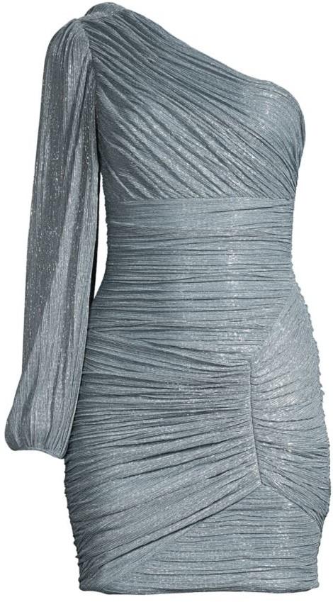 BCBGMAXAZRIA Ruched One-Shoulder Dress