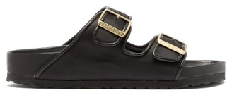 Birkenstock X Il Dolce Far Niente - Arizona Two-strap Satin Slides - Womens - Black