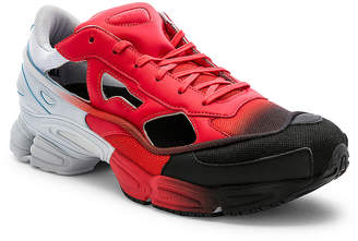 Adidas By Raf Simons Replicant Ozweego Sneaker in Red & Halo Blue & Black | FWRD