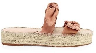 Loeffler Randall Daisy Two Bow Suede Espadrille Platform Sandals
