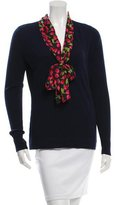 Tory Burch Silk-Accented V-Neck Sweater w/ Tags