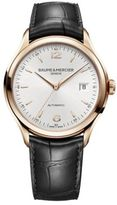 Baume & Mercier Clifton 10058 18K Red Gold & Alligator Strap Watch