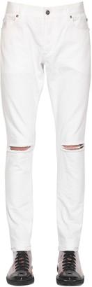Balmain 14cm Skinny Cotton Denim Jeans