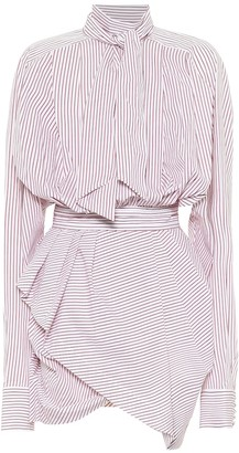 Matthew Adams Dolan Striped cotton minidress