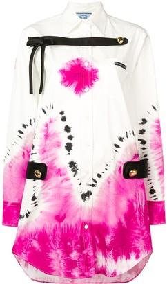 Prada Tie-Dye Shirt Dress