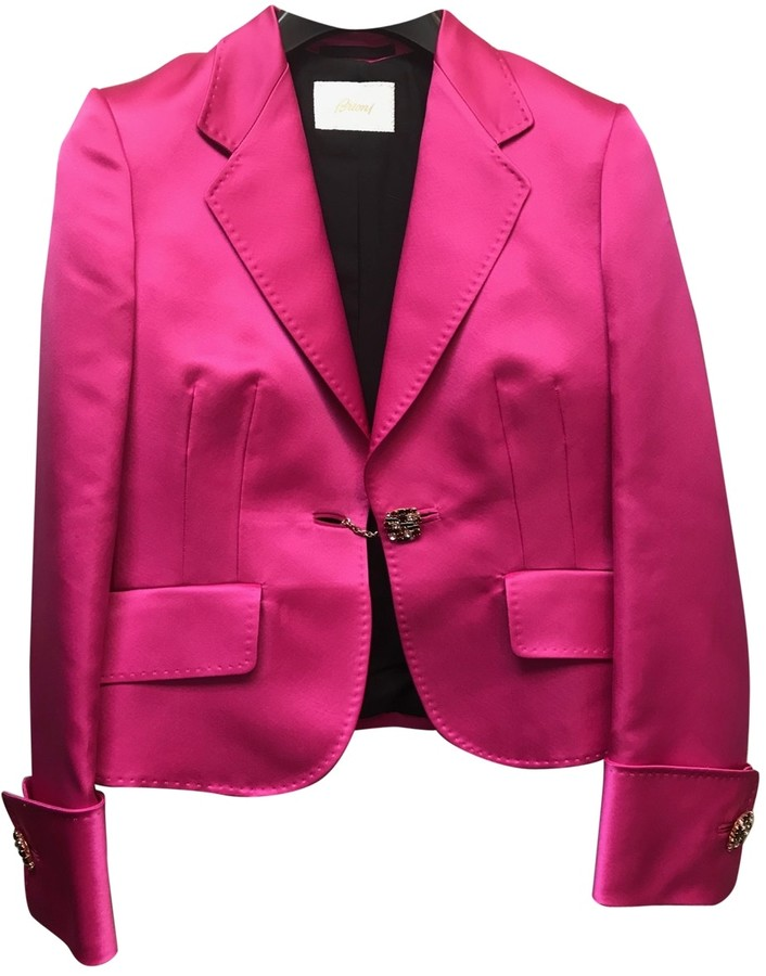 Brioni Pink Silk Jacket for Women