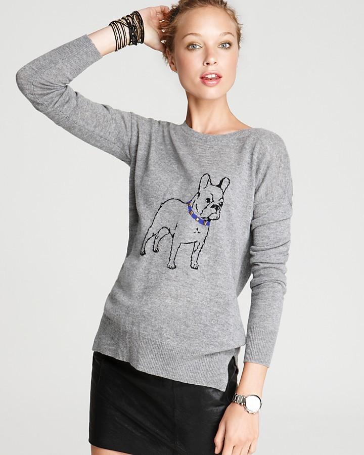 Aqua Cashmere Sweater - Bulldog Crewneck