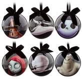 Disney Tim Burton's 2014 The Nightmare Before Christmas Decoupage Ornament Set~ Jack Skellington, Sally, Dr. Finkelsteinth, Zero, Oogie Boogie and Mayor ~ 6-Pc.