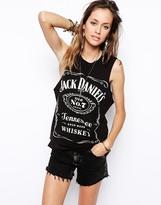 Asos Vest with Jack Daniels Festival Print