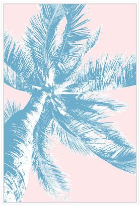 Jonathan Bass Studio Retro Palms 2, Decorative Framed Hand Embellished