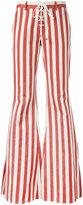 Roberto Cavalli striped flared jeans