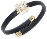 RJ Graziano Stone-Accented Floral Faux Leather Bracelet