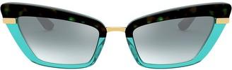 Dolce & Gabbana Eyewear Two Tone Cat-Eye Sunglasses