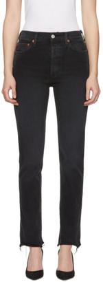 RE/DONE Black Originals Comfort Stretch Double Needle Long Jeans