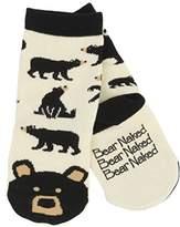 Hatley Boy's Black Bear Animal Ankle Socks