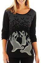 JCPenney Long-Sleeve Halloween Graphic Tee