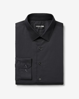 Express Extra Slim Solid Stretch 1Mx Dress Shirt