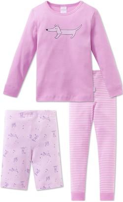 Schiesser Girl's Puppy Love Md 3-teiliger Anzug Pyjama Sets