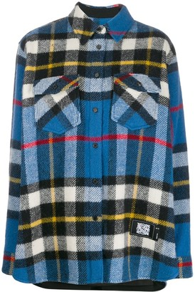 we11done Oversized Check Shirt