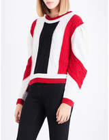 Claudie Pierlot Mixity knitted wool jumper