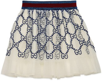 Gucci Baby GG embroidered tulle skirt