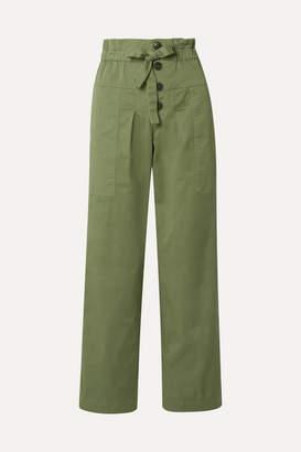 Sea Tula Cotton-blend Twill Pants - Army green