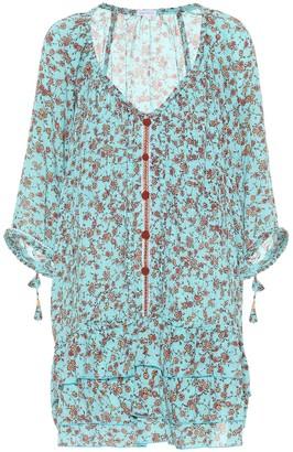 Poupette St Barth Foe floral cotton minidress