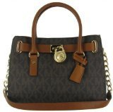 Michael Kors Women's Hamilton Signature Leather Top-Handle Satchel