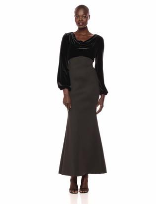 Eliza J Women's Long Sleeve Cowl Neck Gown
