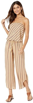Becca by Rebecca Virtue South Hampton Stripe Cropped Jumpsuit Cover-Up (Multi) Women's Jumpsuit & Rompers One Piece