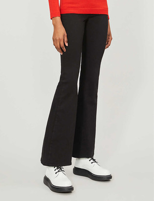 Topshop Cropped flared high-rise jeans