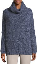 Loro Piana Turtleneck Cashmere Melange Boucle Pullover Sweater