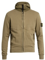Stone Island Hooded Zip-through Cotton Sweater