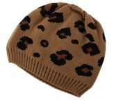 Charlotte Russe Thick Leopard Print Beanie