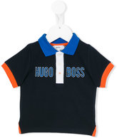 Boss Kids logo print polo shirt